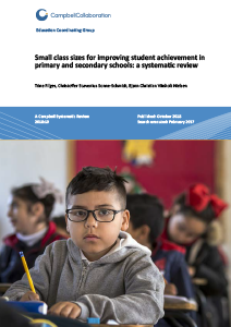Small class sizes for improving student achievement in primary and
