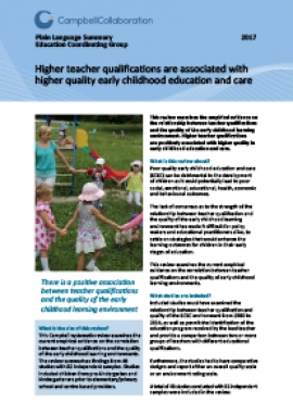 The Relationship Between Teacher Qualification And The Quality Of